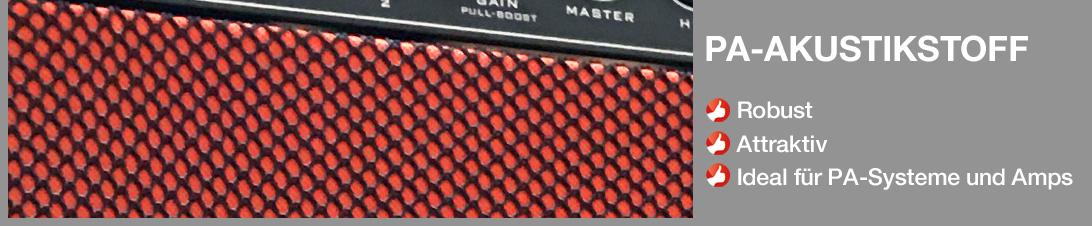 Akustikstoff.com PA-Akustikstoff für PA-Boxen, Instrumentenamps und andere Live-Anwendungen