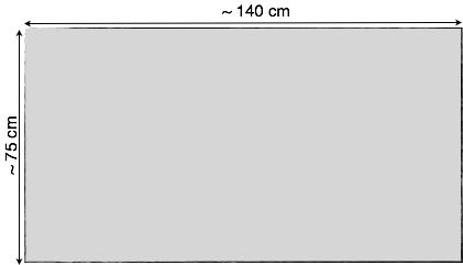 Akustikstoff Standard 140 x 75 cm