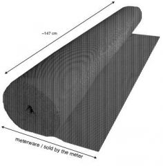 PA-Akustikstoff, Meterware von der Rolle