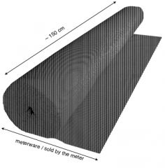 Akustikdesignstoff Metallic-Line Meterware 160 cm